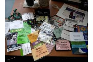 Nice to meet you! Name tags & lanyards from a career well-lived